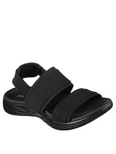 ca73066d6 Skechers On-the-go 600 Foxy Flat Sandal - Black
