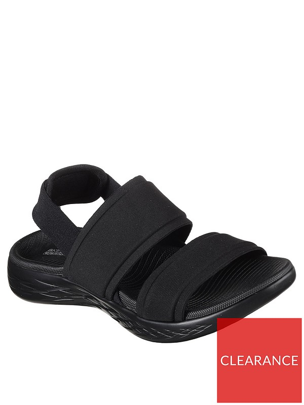 On the go 600 Foxy Flat Sandal Black