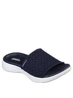 2e5a2dcd74c7 Skechers On-the-go 600 Stellar Slider Sandals - Navy