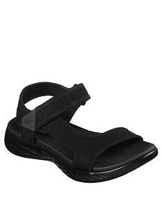 ddfdb5d75627 Skechers On-The-Go 600 Force Flat Sandal Shoes - Black
