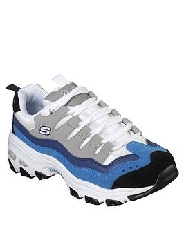 skechers-dlites-sure-thing-colour-blocked-lace-up-trainers-bluegrey