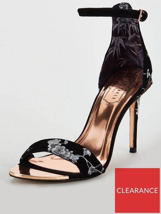 fa5f9d89e Ted Baker Nikoal Suede Heeled Sandals - Black