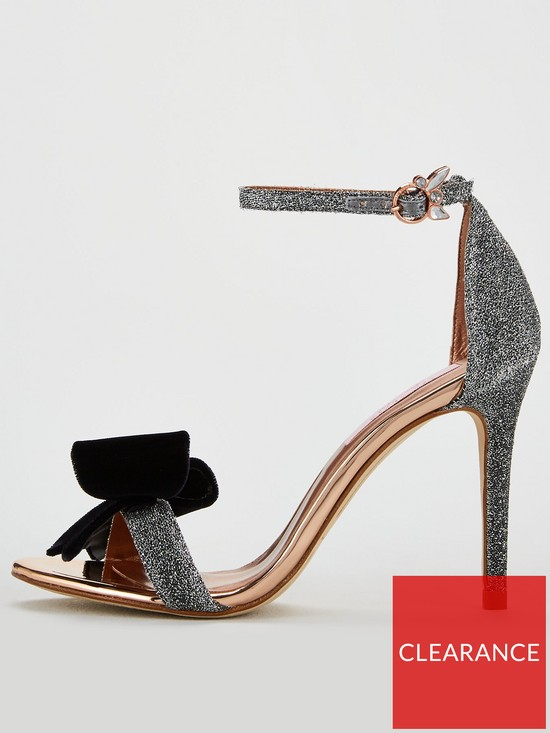 8e4c69dae948a3 ... Ted Baker Bowdalo Bow Heeled Sandal - Silver. 2 people have looked at  this in the last couple of hrs.