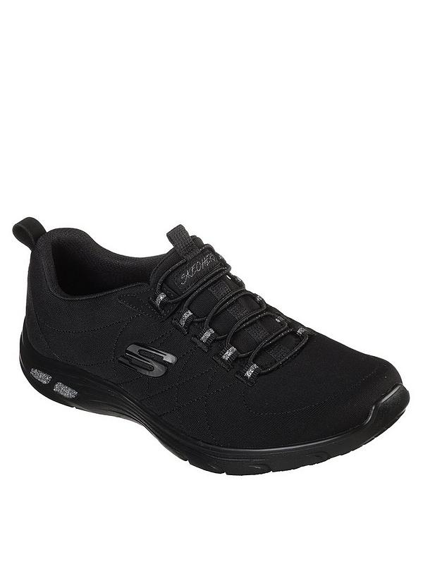 new style 3f815 f9adf Skechers Empire D lux Bungee Lace Trainers - Black