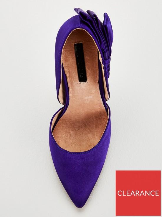 3e79f72000a ... Lost Ink Wide Fit Abigail Bow Court Shoe - Cobalt Blue. View larger