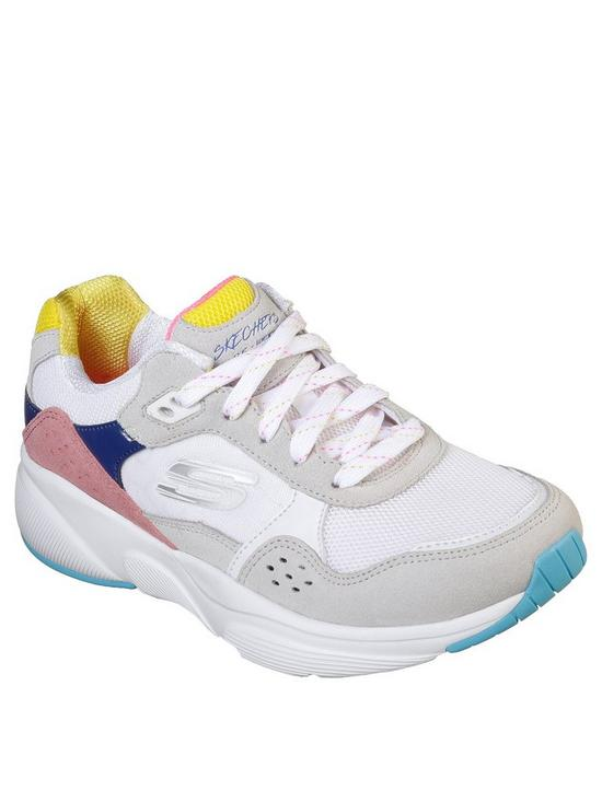d038f06b0a86 Skechers Meridian No Worries Colour Blocked Lace Up Trainers - Multi ...