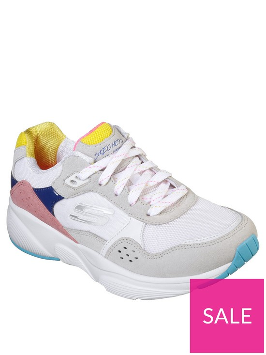 49692391f4 Skechers Meridian No Worries Colour Blocked Lace Up Trainers - Multi ...