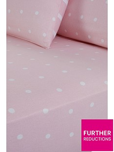 everyday-collection-brushed-cotton-printed-spot-fitted-sheet-pink