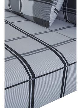 everyday-collection-brushed-cotton-check-fitted-sheet--nbspgrey