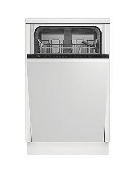 Beko Dis15012 Integrated 10-Place Slimline Dishwasher - White - Dishwasher With Installation