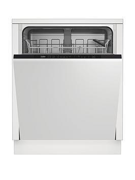 Beko Din15311 Integrated 13-Place Full Size Dishwasher - White - Dishwasher With Installation