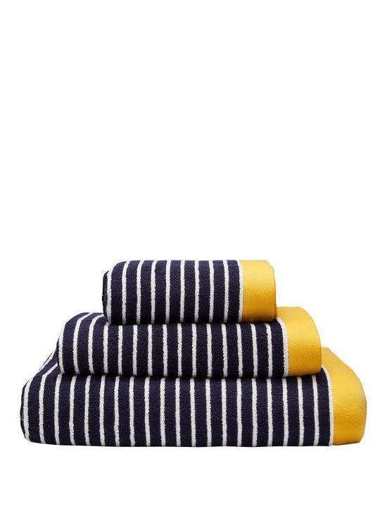 c3ecf8d60c51d Joules Kensington Stripe 100% Cotton Bath Towel Range | very.co.uk