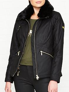 barbour-international-international-croft-faux-fur-collar-wax-jacket-black