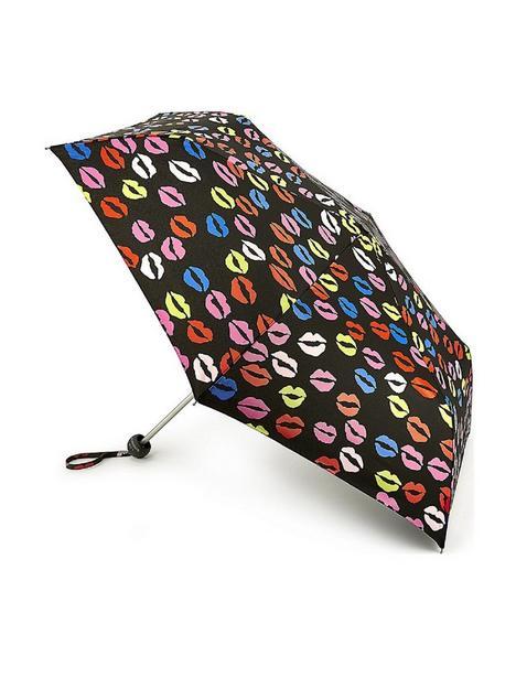 lulu-guinness-minilite-2-blot-lips-umbrella-multi