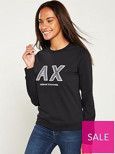 armani-exchange-logo-sweatshirt-black
