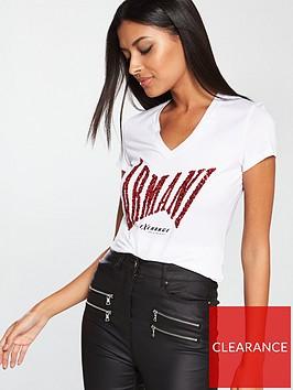 armani-exchange-sequin-t-shirt-white