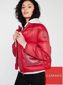 armani-exchange-lightweight-down-jacket-red