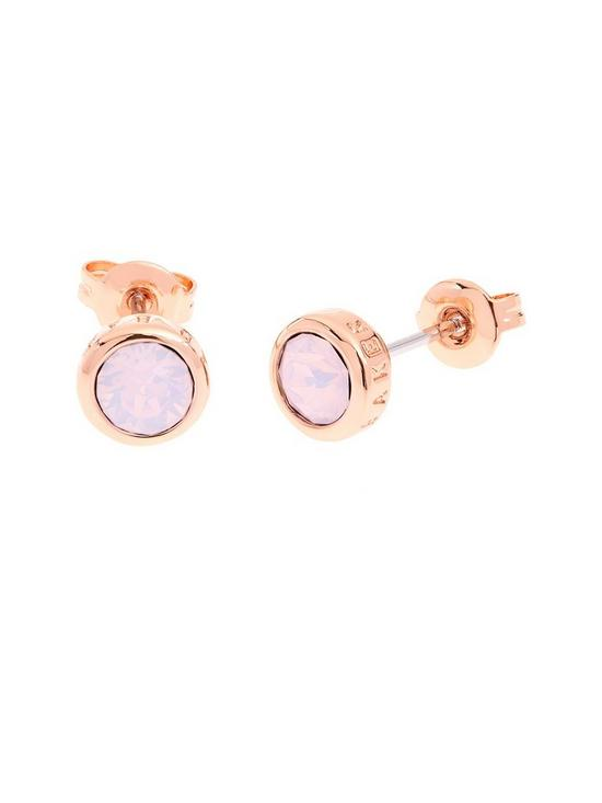 982677097 Ted Baker Sinaa Crystal Stud Earrings - Rose Gold | very.co.uk