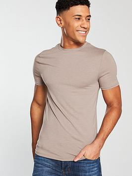 river-island-muscle-fit-short-sleeve-t-shirt-tan-marl