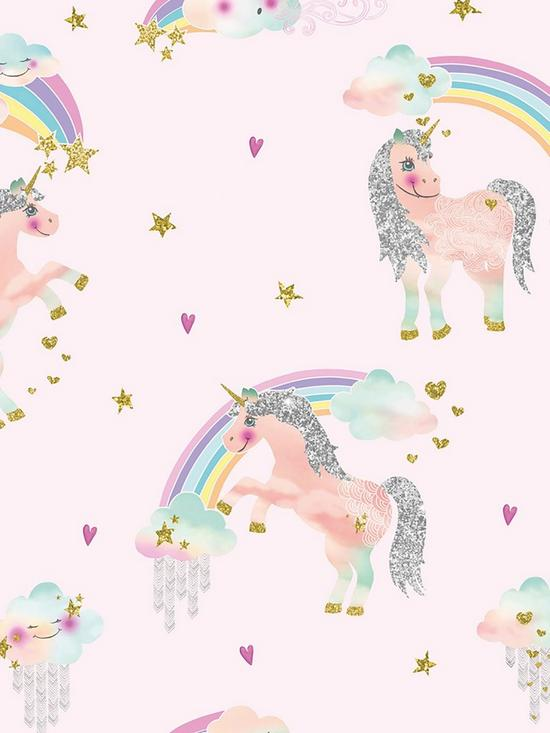 ebb9ac773 ARTHOUSE Rainbow Unicorn Wallpaper   very.co.uk