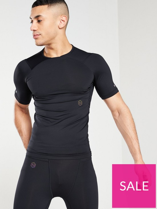 d72b293c UNDER ARMOUR Rush Compression T-Shirt - Black   very.co.uk