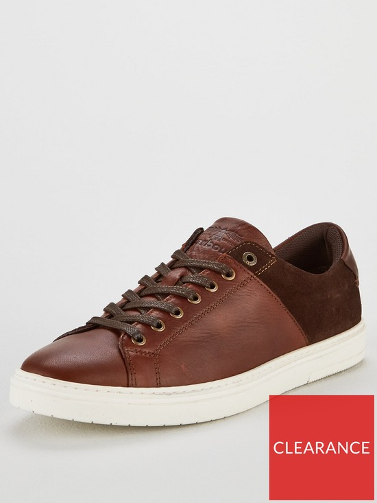 7baccf38ab6 Barbour Ariel Leather Trainer