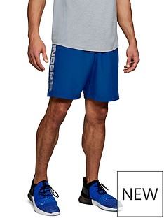 under-armour-woven-graphic-wordmark-shorts-royal-blue