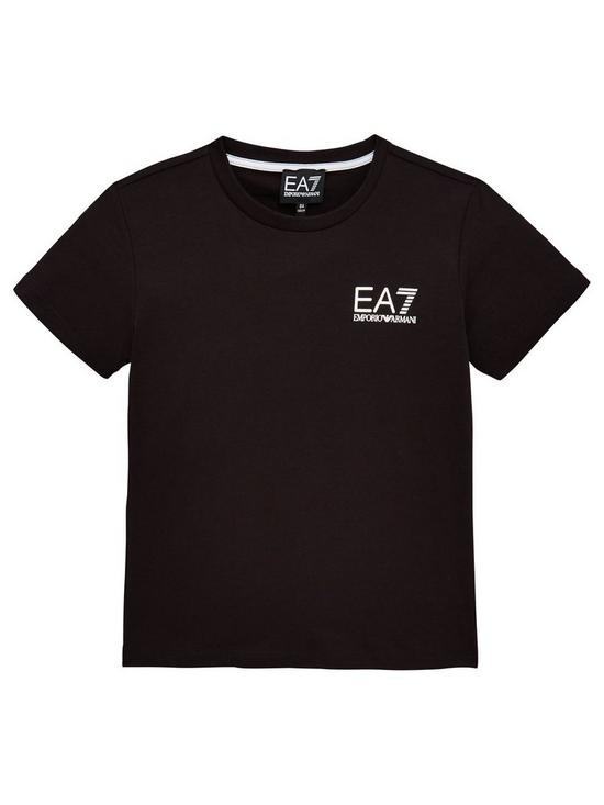 c6285bb01 EA7 Emporio Armani Boys Short Sleeve Logo T-Shirt | very.co.uk
