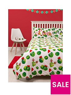 hive-bedding-easy-on-the-sprouts-christmas-single-duvet-cover-set