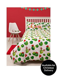 hive-bedding-easy-on-the-sprouts-christmas-double-duvet-cover-set