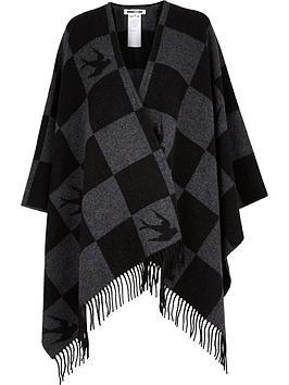 mcq-alexander-mcqueen-swallow-checkerboard-ponchonbsp--grey