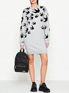 mcq-alexander-mcqueen-flocked-swallow-print-sweatshirt-dressnbsp--grey
