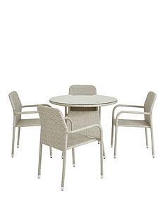 athens-rattan-round-5-piece-dining-set