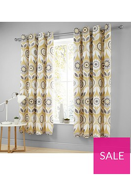 catherine-lansfield-annika-retro-bloom-eyelet-curtains
