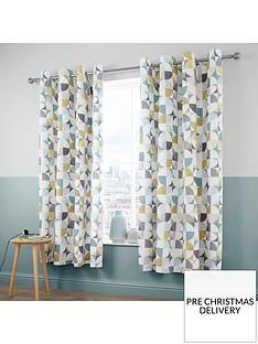 catherine-lansfield-retro-circles-eyelet-curtains