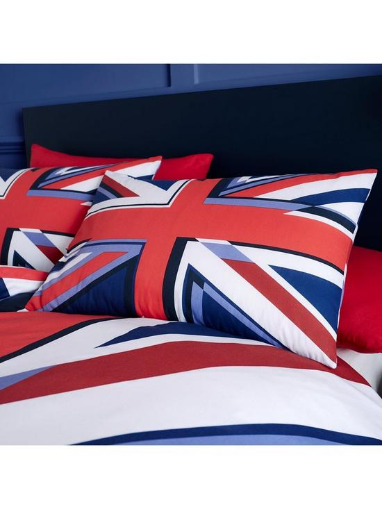New Denim Look Union Jack United Kingdom Flag Duvet// Quilt Cover Set with Pillow