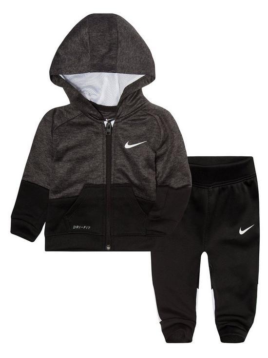 f327d3fce Nike NIKE BABY BOYS SWOOSH LOGO TRACKSUIT SET   very.co.uk
