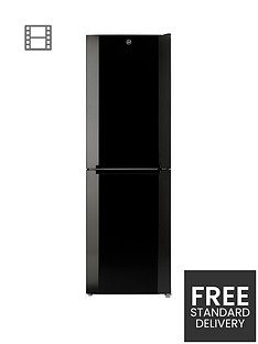 Hoover HMNB6182BK 60cm Wide Total No Frost Fridge Freezer - Black