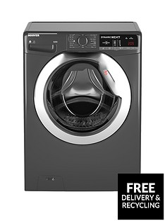 Hoover Dynamic Next WDXOA4106HCR 10kg Wash, 6kg Dry, 1400 Spin Washer Dryer with One Touch - Graphite/Chrome
