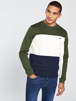 lacoste-sportswear-colour-block-sweat-marineecrugreen