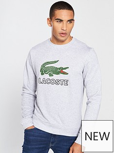lacoste-sportswear-big-croc-logo-crew-neck-sweat-grey