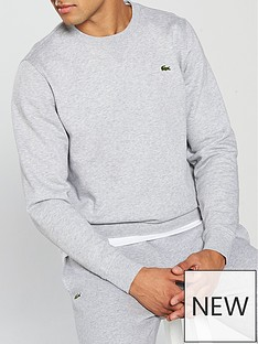 lacoste-crew-neck-sweat-grey
