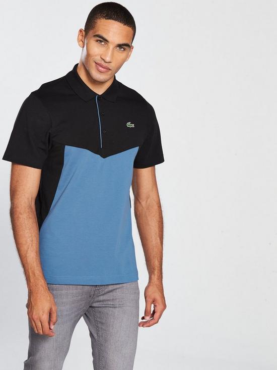 25d47c0c Lacoste Sport Colour Block Polo - Blue/Black | very.co.uk