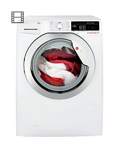Hoover Dynamic Next DXOA48C3 8kg Load, 1400 Spin Washing Machine with One Touch - White/Chrome