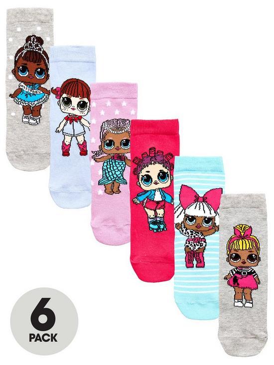 2a97fd2875 L.O.L Surprise 6pk Ankle Socks