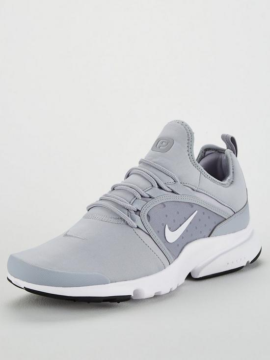 check out 777f5 18010 Nike Presto Fly World Trainers – Grey White