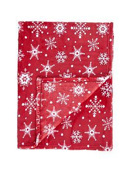 gallery-snowflake-flannel-fleece-throw
