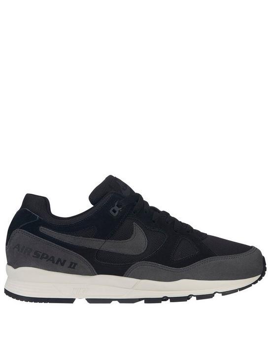 new york 69727 99ba2 Nike Air Span II SE Trainers - Black