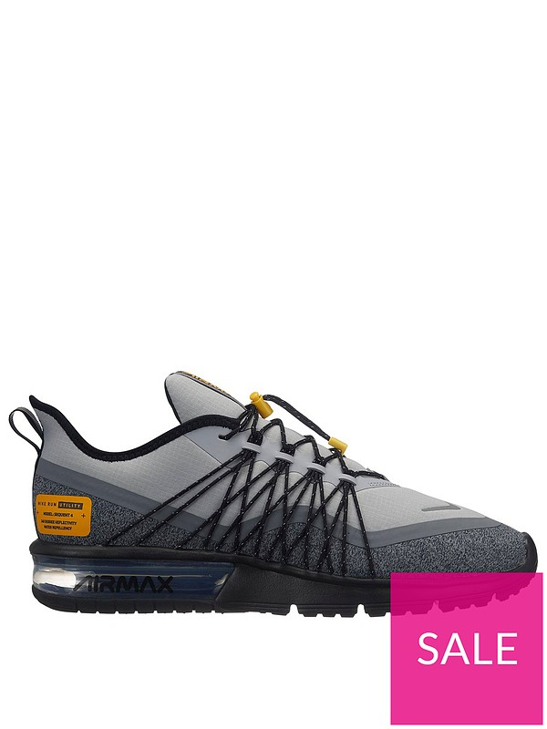 10b690acb4 Nike Air Max Sequent 4 Utility - Grey/Silver | very.co.uk