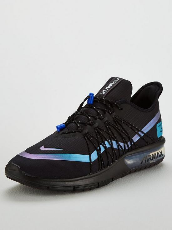 76cd66e198 Nike Air Max Sequent 4 Utility - Black/Blue | very.co.uk